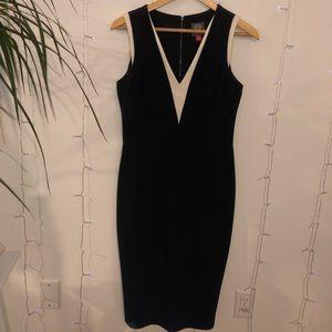 Woman's Black Classy Pencil Dress